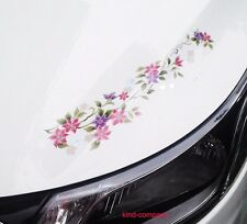 2* Car auto motor flower Decal Vinyl sticker Decals reflect FOR hood light side