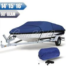 14-16ft 210D Heavy Duty Waterproof Trailerable Boat Cover 90'' Beam Width