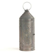 "18"" Chimney Lantern in Blackened Tin 