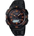 Casio Solar Analog/Digital Watch, Black Resin, 100 Meter, 5 Alarms, AQS800W-1B2V
