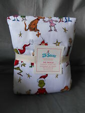 POTTERY BARN KIDS The Grinch Seuss Stole Christmas 4pc Full Flannel Bedding Set