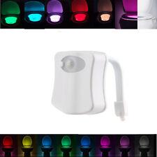 8 Farben menschlichen Körper Motion Sensor LED  Schüssel Bad Nachtlicht  DE