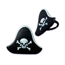 PIRATE HAT Cupcake Rings Cake Toppers Decorations Party Favors 24