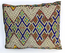 "Vintage Colorful Wool Kilim Moroccan Berber Small Pillow  15.5"" x 13.5"""
