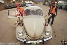 Hunters, 1970 taking a deer back to Denver in VW  8 x 10 Photograph