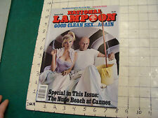 """HIGH GRADE National Lampoon jan 86 GOOD CLEAN SEX """"WHITE MOUNTAIN COLLECTION"""