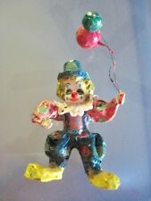 Vintage Paper Mache Clown with Balloons Mexican Folk Art