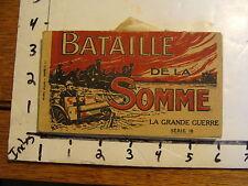 BATAILLE de la SOMME LA GRANDE GUERRE SERIE 18---WWI real photo post card set