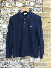 VTG LACOSTE RUGBY TOP SIZE MEDIUM POLO SHIRT LONG SLEEVE '4' CASUAL TEE NAVY