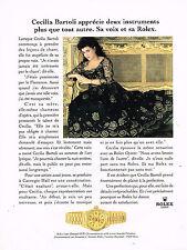 PUBLICITE ADVERTISING 074  1996  ROLEX  montre LADY DATEJUST  CECILIA BARTOLI