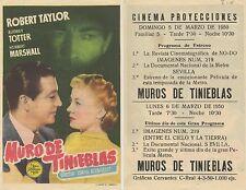 Programa de CINE. Título película: MURO DE TINIEBLAS.