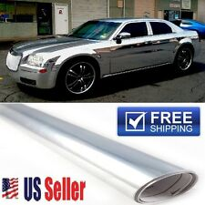 "24""x60"" Chrome/Silver Vinyl Wrap Film Protector ""BUBBLE FREE"" DIY 5FTx2FT Roll"