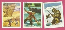 Ice Fishing River Fish Casting Net Vintage 1960s Sports Cards from Spain