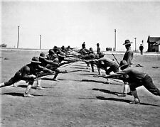 New 8x10 World War I Photo: U.S. Soldiers at Bayonet Practice, Camp Bowie, Texas