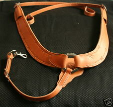 Jeremiah Watt Western Ranch Pulling Breast Collar Jays Barbed Wire Tooling