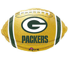 """NFL Green Bay Packers Football 18"""" Foil Balloon Double Sided 3 Pack Helium"""