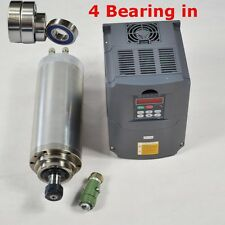 4 BEARINGS 4KW WATER-COOLED SPINDLE MOTOR  INVERTER DRIVE VFD FOR CNC