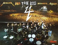 The Big 4 ___ Megadeth Metallica _ _ SLAYER _ Anthrax _ 1 POSTER/MANIFESTO