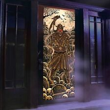 Skeleton Warrior Lights and Sounds Door Panel Halloween Decoration Creepy Scary