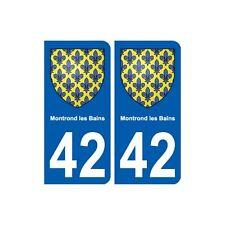 42 Montrond-les-Bains blason ville autocollant plaque stickers arrondis
