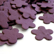Purple Flower Shaped Wildflower Seed Recycled Paper Eco Plantable Confetti