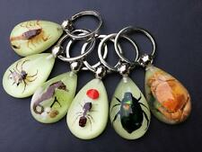 14pcs glow in the night Scorpion Spider Green beetle Crab Mix Key-chains nice