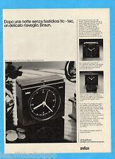 QUATTROR980-PUBBLICITA'/ADVERTISING-1980- BRAUN SVEGLIE SIGNAL QUARTZ