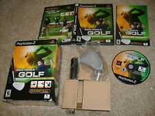 Real World Golf Playstation 2 PS2 video game COMPLETE with club us usa english