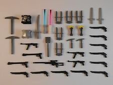 Guns for LEGO Minifigures. Lot of 40. New!  Lightsabers Bricks Accessories Toys