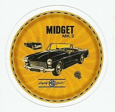 MG MIDGET MK 2  CAR Sticker Decal
