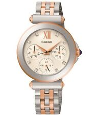 BRAND *NEW* LADIES NEW SEIKO TWO-TONE SWAROVSKI WATCH SKY700P1 RRP £269
