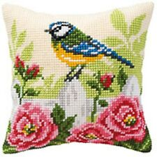 Blue Tit - Large Holed Tapestry Cushion Kit/Printed Chunky Cross Stitch