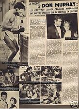 Coupure de presse Clipping 1957 Don Murray  (1 page)
