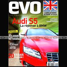 EVO N°20 AUDI S5 V8 & RS4 CLIO R27 207 RC BMW M5 TOURING LAMBORGHINI GALLARDO