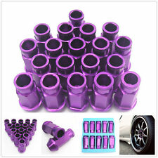 Aluminium Wheel Nuts M12X1.5 19 mm socket Universal PURPLE