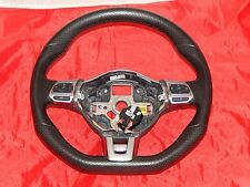 VW MK6 GTI Jetta 6 Speed Manual Steering Wheel Black Leather Red Stitching OEM
