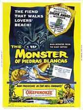 Combo monstre de Piedras Blancas Poster 01 métal signe A4 12x8 aluminium