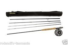 FLY FISHING ROD HI END COMBO 9ft LW 6/7 4 SEC Rod,Fly Reel,Lines,50 Flies boxed