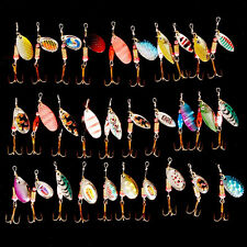 30pcs/lot Spinners Fishing Lure Kinds of Metal Spoon Lures Tackle Atificial Bait
