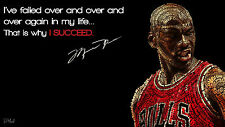 Poster 42x24 cm Michael Jordan Baloncesto Basketball Motivational Quote 01