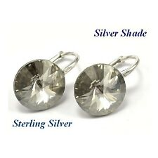 *STERLING SILVER* - RIVOLI - Silver Shade Earrings made with SWAROVSKI Crystals