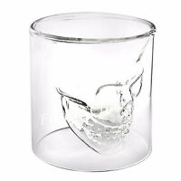 CRYSTAL SKULL HEAD VODKA SHOT WHISKEY WINE BEER BAR GLASS DRINKING DECANTER CUP~