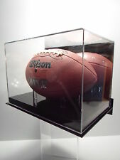 Football wall mount mirror back display case 85% UV filtering acrylic NFL NCAA