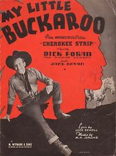 DICK FORAN western film song CHEROKEE STRIP Warner Bros. COWBOY PHOTOGRAPH 1937