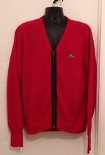 Urban Renewal Outfitters Izod Lacoste Red Cardigan Sweater Size M L