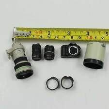 Newest 1/6 Scale Canon EOS-1 DSLR Camera with 3 Lens Miniature for hot toys