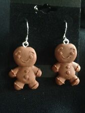 Gingerbread Man Earrings - Only one available!