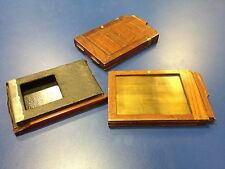 3x Wood/Wooden Negative Holders For Plate Camera  - (#6)