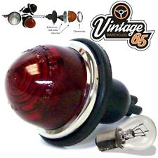Retro Kit Car Hotrod Bullet Style Rear Fog Stop & Tail Light Lamp 12V Bulb