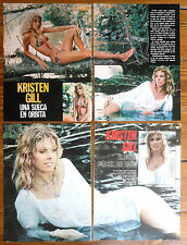 KRISTEN GILL 1970s 5 pages clippings sexy photos Sweedish actress magazine